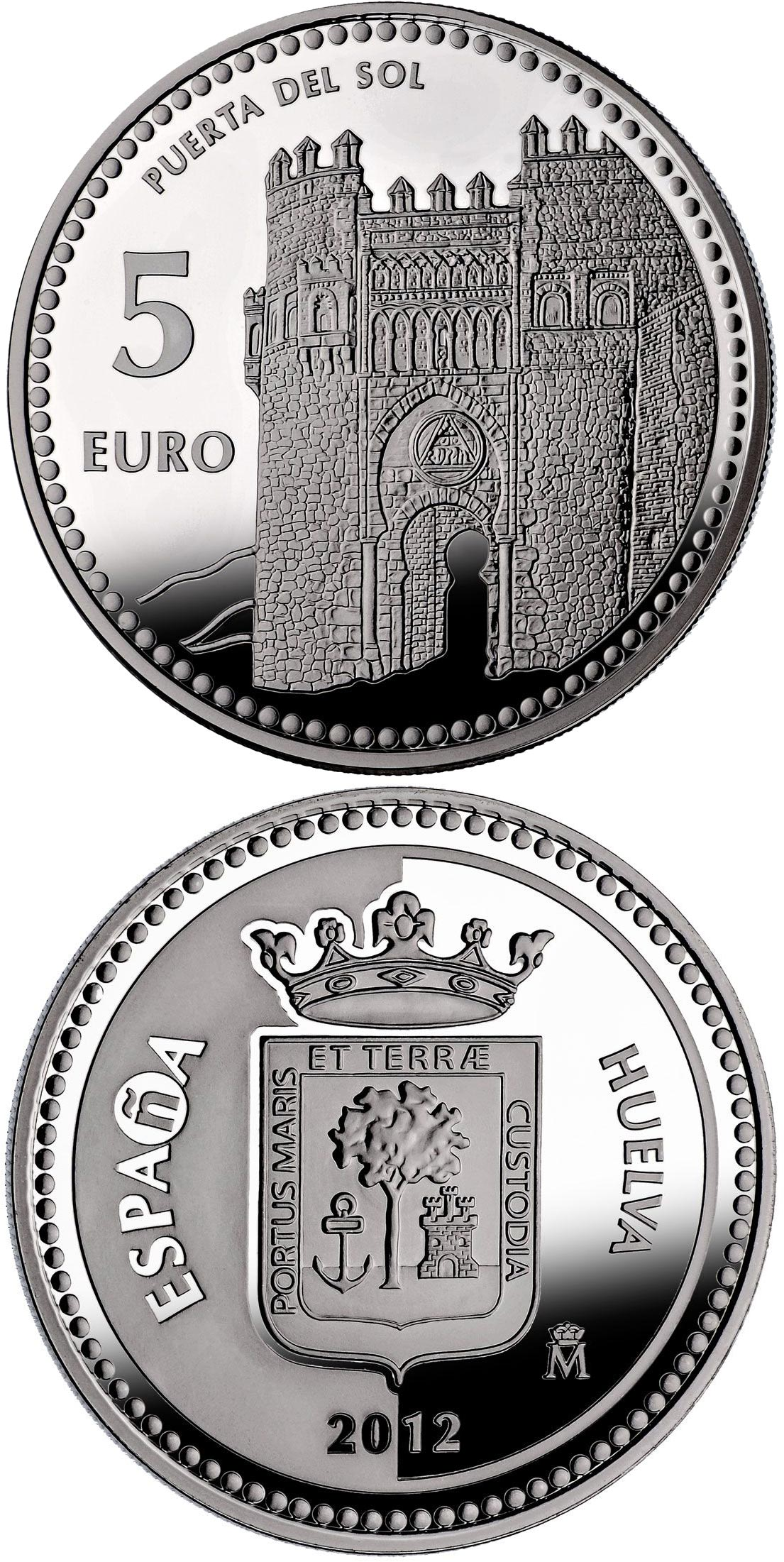 Image of 5 euro coin - Toledo | Spain 2012.  The Silver coin is of Proof quality.