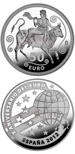 50 euro coin 10th Anniversary of the Euro | Spain 2012