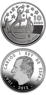 10 euro 10th Anniversary of the Euro - 2012 - Series: Silver 10 euro coins - Spain