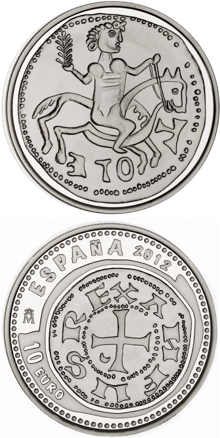 Image of 800th Anniversary of the Battle of Las Navas de Tolosa  – 10 euro coin Spain 2012.  The Silver coin is of Proof quality.