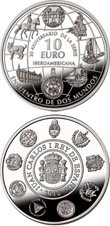 10 euro 20th Anniversary of the Ibero-American Series - 2012 - Series: Ibero-American Series - Spain