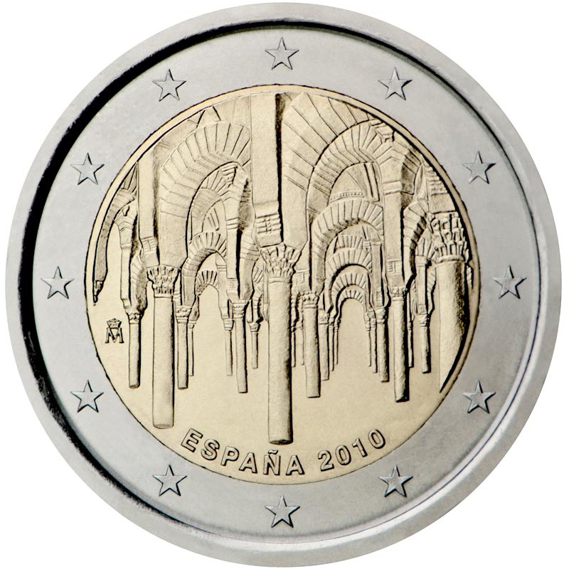 Image of 2 euro coin – UNESCO: The historic town center of Cordoba  | Spain 2010