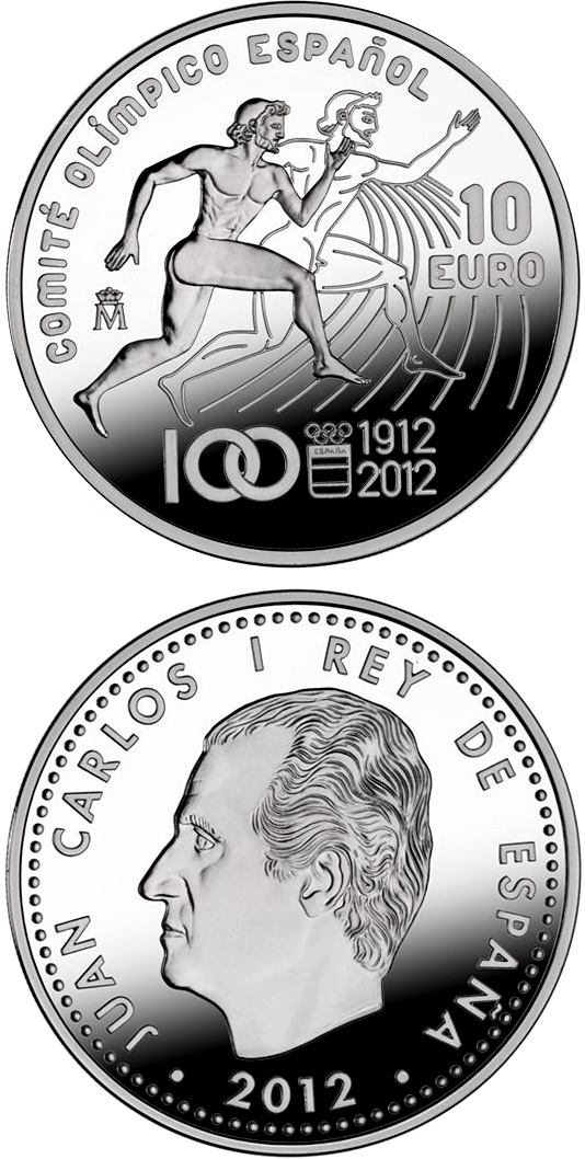 10 euro Centenary of the Spanish Olympic Committee - 2012 - Series: Silver 10 euro coins - Spain