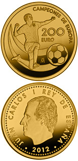 200 euro coin UEFA EURO 2012 Champions of Europe | Spain 2012