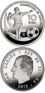 10 euro coin UEFA EURO 2012 Champions of Europe | Spain 2012