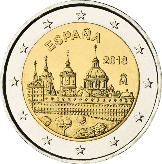 2 euro The Royal Seat of San Lorenzo de El Escorial - 2013 - Series: Commemorative 2 euro coins - Spain
