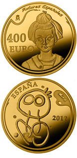 400 euro coin 5th Series Spanish Painters - Joan Miró | Spain 2012