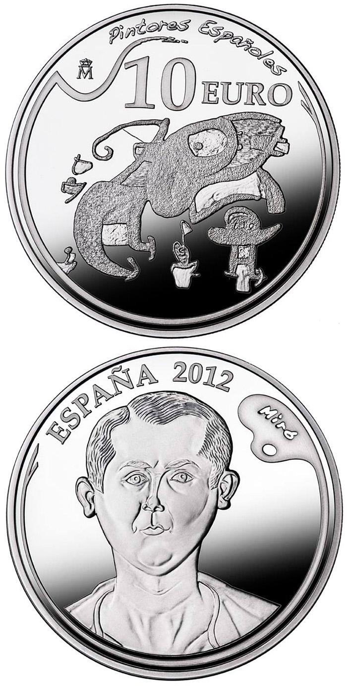 10 Euro Coin 5th Series Spanish Painters Joan Mir 243 Spain 2012