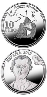 10 euro 5th Series Spanish Painters - Joan Miró - 2012 - Series: Silver 10 euro coins - Spain
