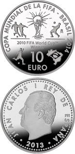 10 euro 2014 FIFA World Cup Brazil - 2013 - Series: Silver 10 euro coins - Spain