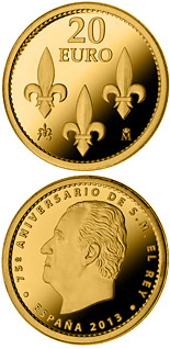 20 euro coin 75th birthday of His Majesty the King | Spain 2013