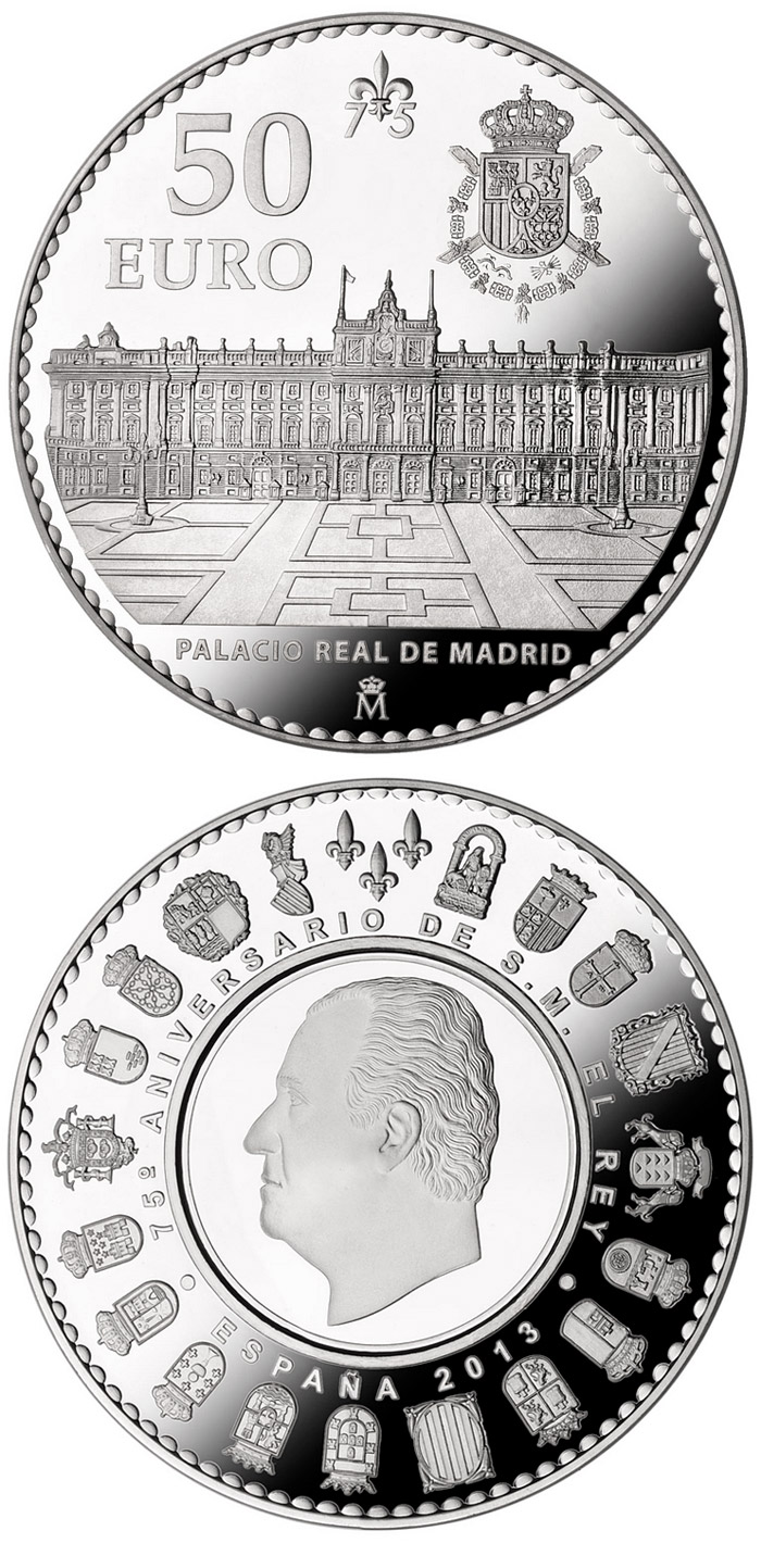 50 euro 75th birthday of His Majesty the King - 2013 - Spain