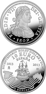 10 euro coin Bi-Centennial of the Holey Dollar and the Dump | Spain 2013