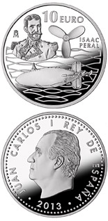 10 euro 125th Anniversary of the Peral Submarine - Isaac Peral - 2013 - Series: Silver 10 euro coins - Spain