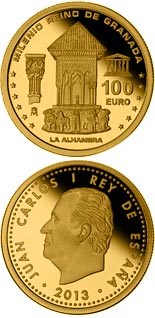 100 euro coin Millennium of the Kingdom of Granada | Spain 2013