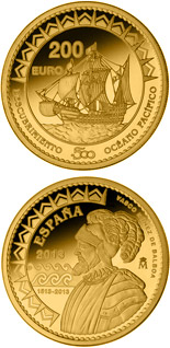 200 euro coin 500th Anniversary of the Pacific Ocean | Spain 2013