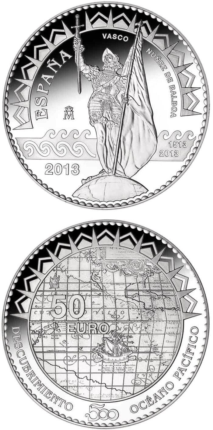 50 euro | Spain | 500th Anniversary of the Pacific Ocean | 2013