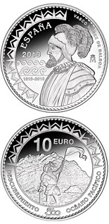 10 euro coin 500th Anniversary of the Pacific Ocean | Spain 2013