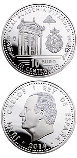 10 euro 300th Anniversary of the Royal Academy of the Spanish Language  - 2014 - Series: Silver 10 euro coins - Spain