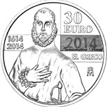 30 euro coin 400th Anniversary of El Greco  | Spain 2014