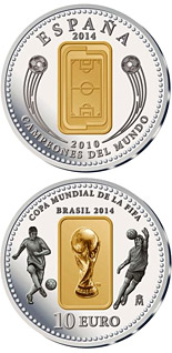10 euro coin FIFA 2014 : World Cup in Brazil | Spain 2014