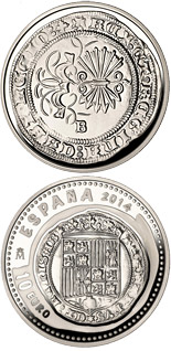 10 euro coin 5th Series Numismatic Treasures: Queen Isabella | Spain 2014