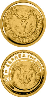 20 euro 5th Series Numismatic Treasures: Queen Isabella - 2014 - Series: Gold 20 euro coins - Spain
