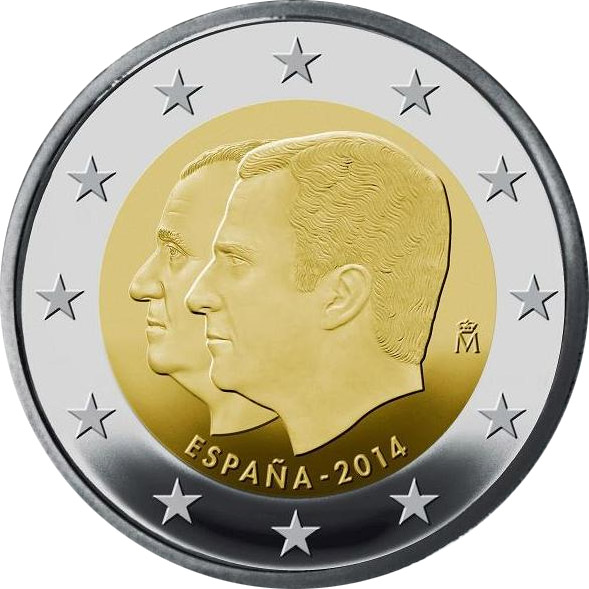 Image of 2 euro coin - Juan Carlos / Felipe VI | Spain 2014