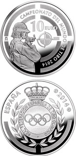 10 euro World Shooting Championship 2014 - 2014 - Series: Silver 10 euro coins - Spain