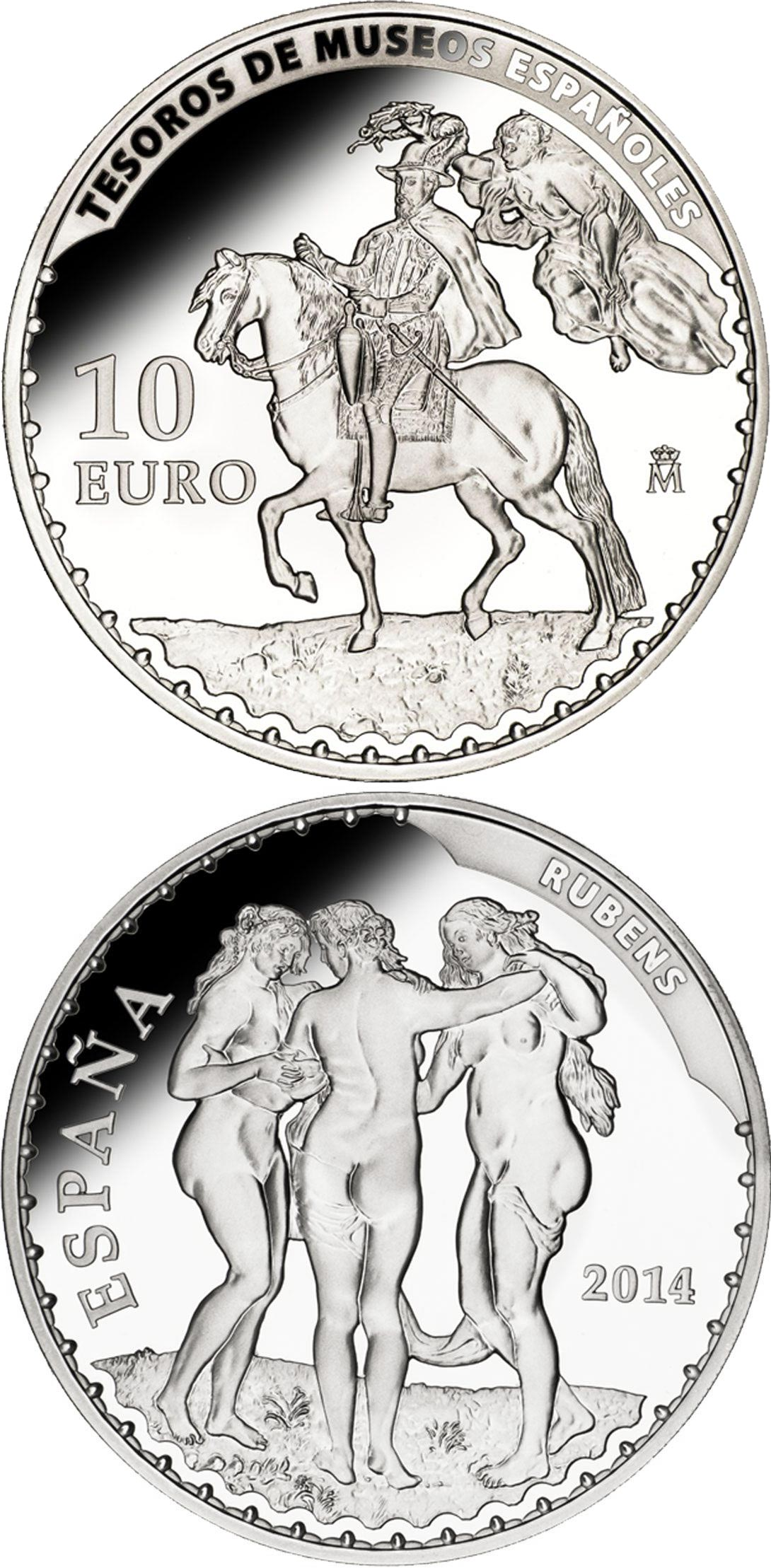 Image of 10 euro coin - Rubens | Spain 2014.  The Silver coin is of Proof quality.