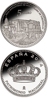 5 euro coin Royal Convent of Santa Clara | Spain 2014