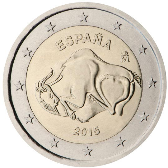 Image of 2 euro coin – Cave of Altamira | Spain 2015