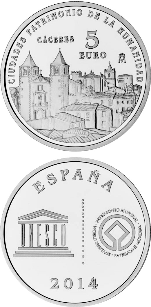 Image of a coin 5 euro | Spain | Cáceres | 2014