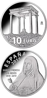 10 euro coin 500th Anniversary of Saint Teresa of Jesus | Spain 2015