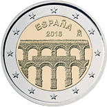 2 euro coin Old Town of Segovia and its Aqueduct | Spain 2016