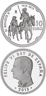 10 euro 400 Years of Don Quijote - 2015 - Series: Silver 10 euro coins - Spain