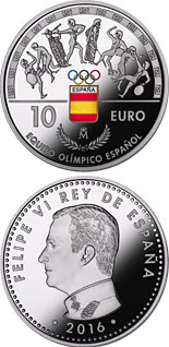 10 euro coin Spanish Olympic Team | Spain 2016