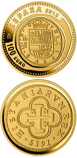 100 euro coin 6th Series Numismatic Treasures: 400th anniversary of the inauguration of the Mint of Madrid | Spain 2015