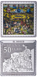 50 euro coin Spanish Museum Treasures IV: Bosch - The Garden of Earthly Delights | Spain 2016