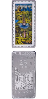 25 euro coin Spanish Museum Treasures IV: Bosch - The Garden of Eden | Spain 2016