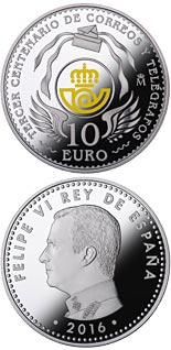 10 euro 300th Anniversary of the Spanish Post Office - 2016 - Series: Silver 10 euro coins - Spain