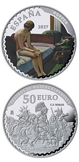 50 euro coin Spanish Museum Treasures V: 25th anniversary of the Thyssen-Bornemisza Museum | Spain 2017