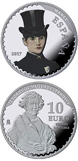 10 euro coin Spanish Museum Treasures V: 25th anniversary of the Thyssen-Bornemisza Museum | Spain 2017