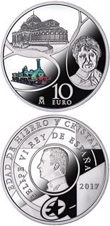 10 euro The Age of Iron and Glass - 2017 - Series: Silver 10 euro coins - Spain