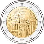 2 euro coin Historic Center of Santiago de Compostela | Spain 2018