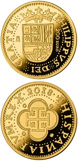 200 euro coin 150th Anniversary Spanish Escudos | Spain 2018