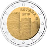 2 euro coin Walls of Ávila | Spain 2019