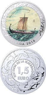 1.5 euro coin Scandinavian Drakkar | Spain 2018
