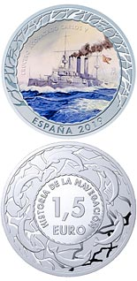 1.5 euro coin Spanish Cruiser Carlos V | Spain 2019