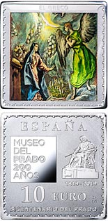 10 euro coin Bicentenary of the Museum del Prado - The Annunciation | Spain 2019
